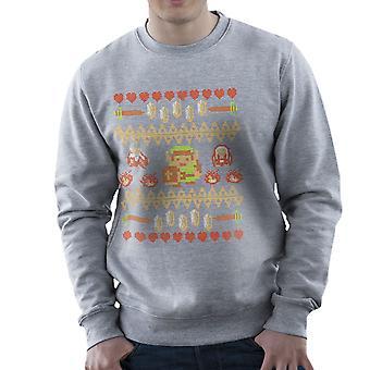 Dont Wear Alone Legend Of Zelda Knit Pattern Men's Sweatshirt
