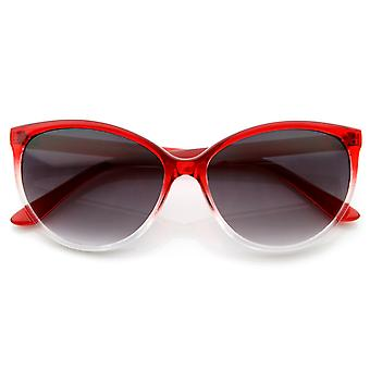 Translucent Fade Color Womens Fashion Cat Eye Sunglasses