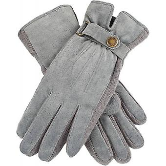 Dents Laura Strap Detail Suede Gloves  - Charcoal