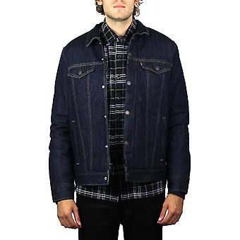 Levi's Down Fill Styled Denim Trucker Jacket (Indigo DWR)