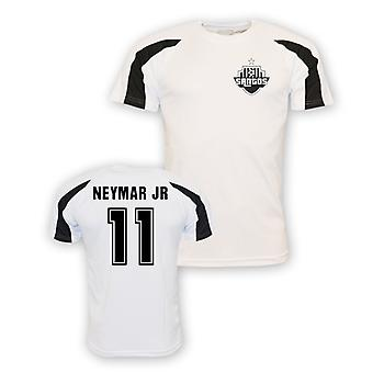 Neymar Jr Santos Sports Training Jersey (white)