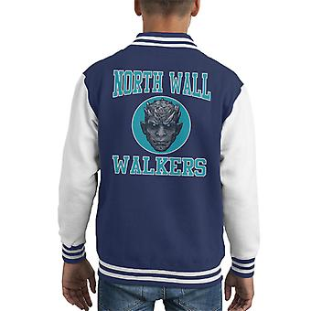 Norden Wand Wanderer Basket Ball Teamspiel des Thrones Kid Varsity Jacket