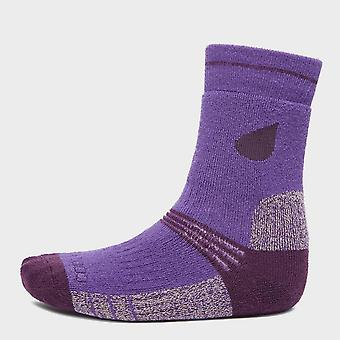 New Peter Storm Girl's Midweight Trekking Socks (2 pack) Purple