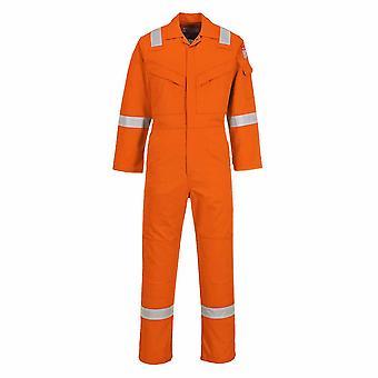 Portwest - schwer entflammbar Sicherheit Arbeitskleidung antistatische Coverall Boilersuit 350 g
