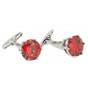 Posh and Dandy Crystal Cufflinks - Red
