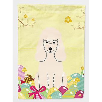 Carolines Treasures  BB6070CHF Easter Eggs Poodle White Flag Canvas House Size