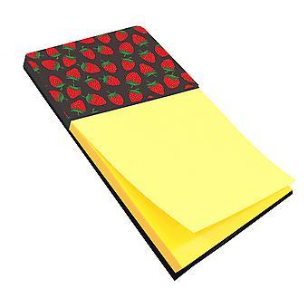 Carolines Treasures  BB5137SN Strawberries on Gray Sticky Note Holder