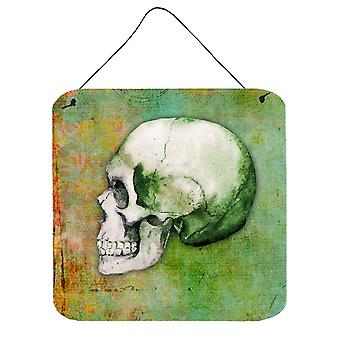 Day of the Dead Green Skull Wall or Door Hanging Prints