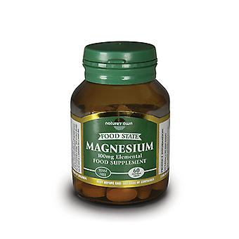 Natures Own Food State Magnesium Elemental 100mg, 60 tabs