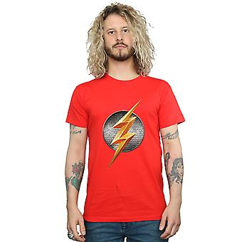 DC Comics Men's Justice League Movie Flash Emblem T-Shirt