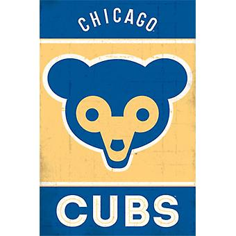 Chicago Cubs - Retro Logo 2014 Poster Poster Print