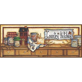 Land keuken Shelf Poster Print by Mary Ann juni (20 x 8)