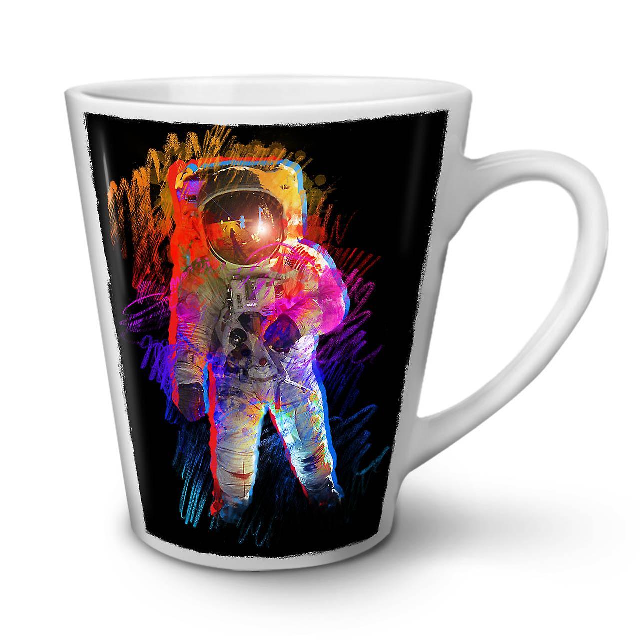 12 Walk Ceramic Man Of Space White Latte Coffee Tea Moon OzWellcoda Mug New qMGjzVSULp