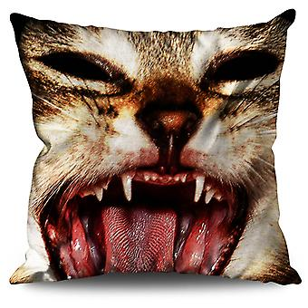 Cute Animal Funny Cat Linen Cushion Cute Animal Funny Cat | Wellcoda