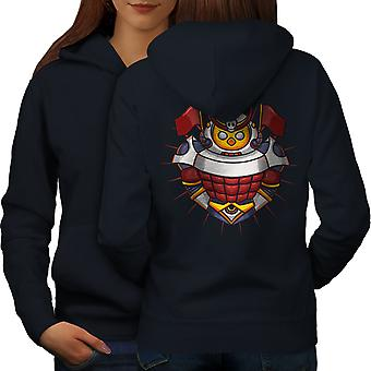 Knight Colorful Women NavyHoodie Back | Wellcoda