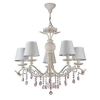 Maytoni Lighting Fiona Elegant Collection Chandelier, Pastel Pink