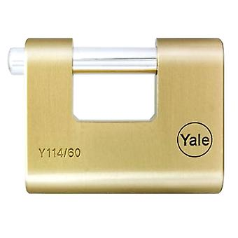 Yale Yale Shutter Brass Padlock Long Shackle- 60mm