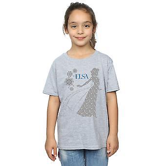 Disney flickor fryst Elsa Christmas siluett T-Shirt