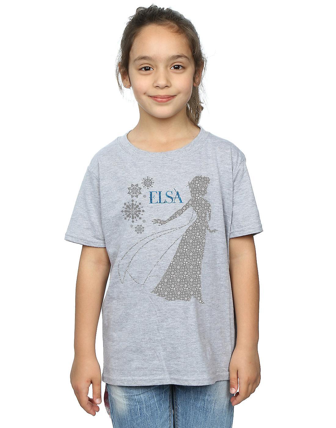 Filles de Disney congelés Elsa Christmas Silhouette T-Shirt