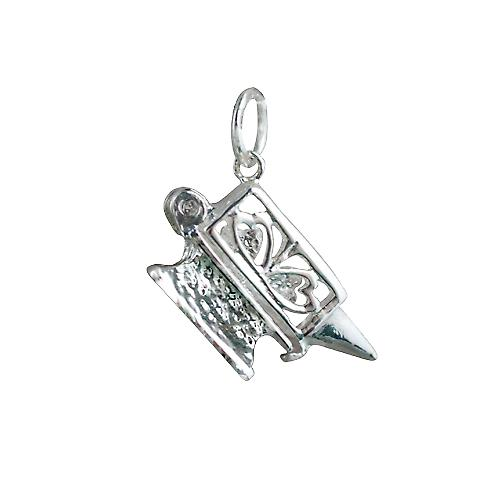 Silver 20x10mm moveable Lovers Anvil Pendant or Charm
