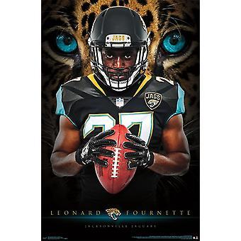 Jacksonville Jaguars - Leonard Fournette Plakat-Druck