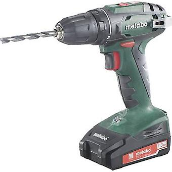 Metabo BS 18 Cordless drill 18 V 1.3 Ah Li-ion incl. spare battery, incl. case