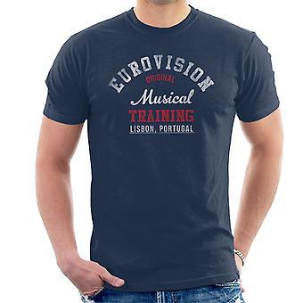 Eurovision Musik Ausbildung Portugal Herren T-Shirt