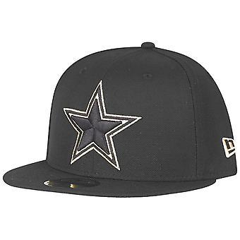 New Era 59Fifty Fitted Cap - Dallas Cowboys schwarz / gold