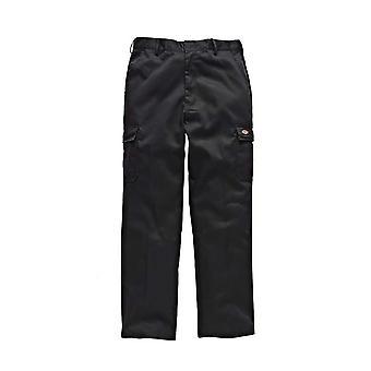 Dickies Mens Redhawk Chino Workwear Trousers Black WD803B
