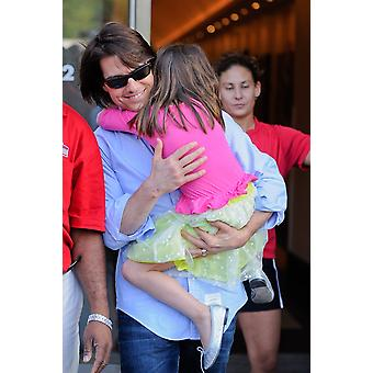 Tom Cruise Suri Cruise Leave The Field House Gym At Chelsea Piers Out And About For Celebrity Candids - Mon  New York Ny August 8 2011 Photo By Ray TamarraEverett Collection Celebrity
