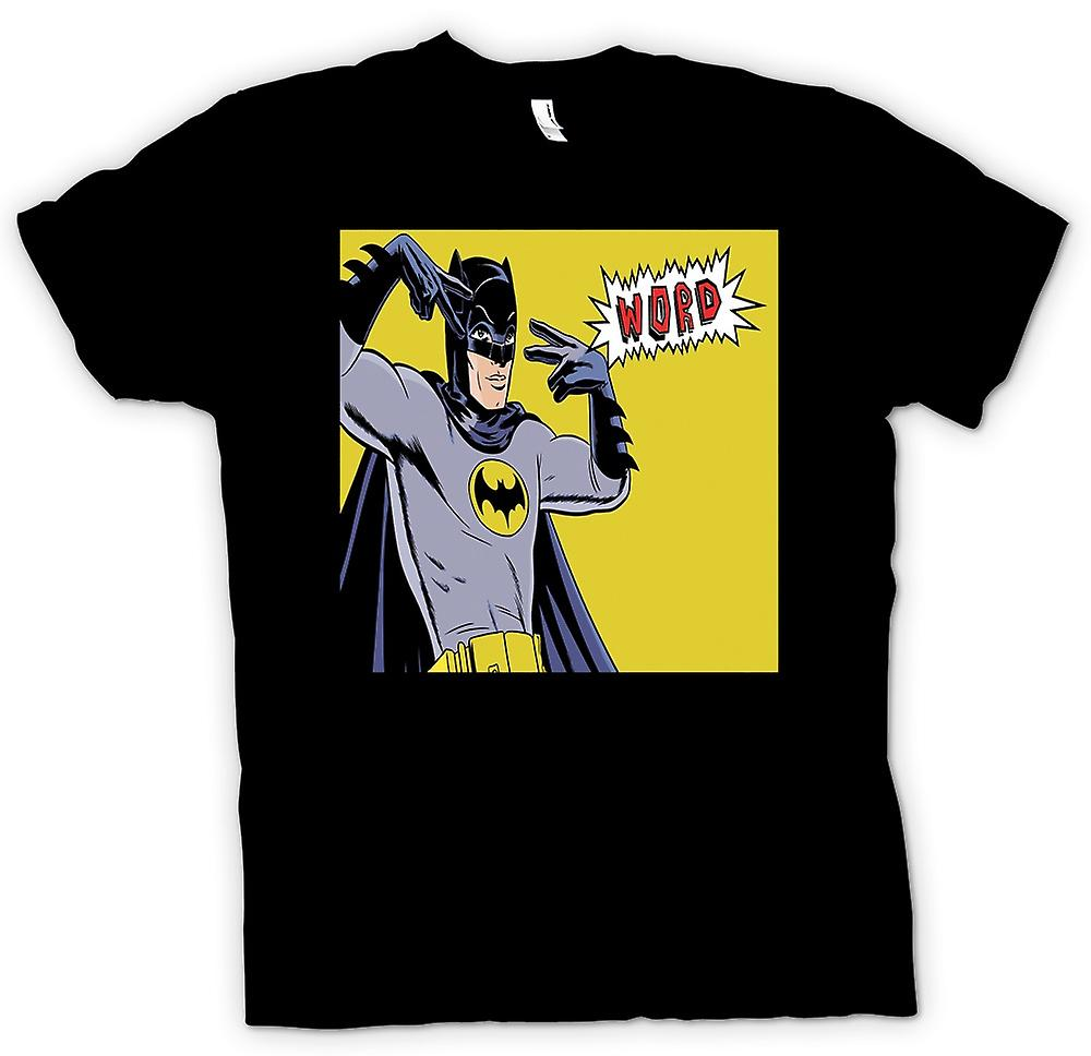 Mens T-shirt - Batman Word - Funny