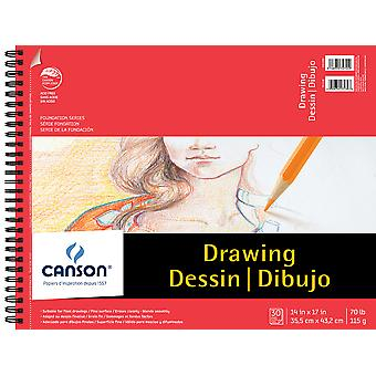 Canson Foundation Series Spiral Drawing Pad 14