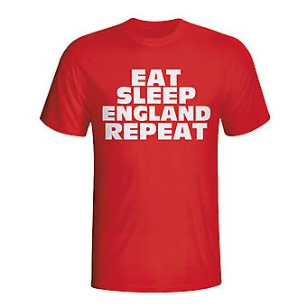 Eat Sleep England Repeat T-shirt (red)