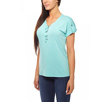 T-Shirt with lacing in the chest area ladies BOYSEN BB´s turquoise