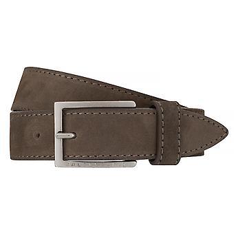 BALDESSARINI bälte läder kuter mäns bälten läder antracitgrå/6514