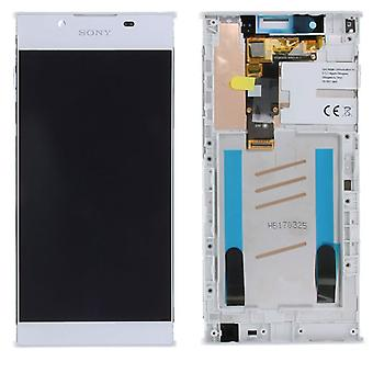 Sony display LCD complete unit with frame for Xperia L1 G3311 G3312 G3313 white spare parts