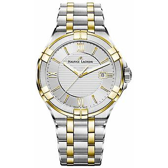 Maurice Lacroix Mens Aikon Two Tone Bracelet Gold Plated AI1008-PVY13-132-1 Watch