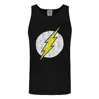 DC Comics Mens Flash Distressed Logo Vest