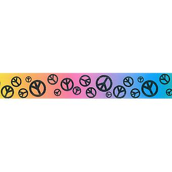 Scatter Peace Sign Ribbon 7/8