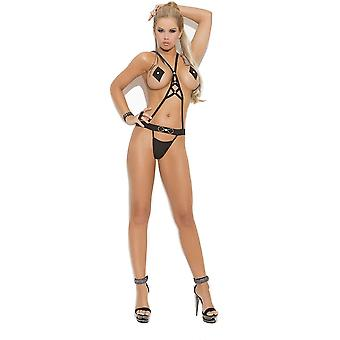 Vivace EM-8862 Womens Teddy with rhinestone detail and pasties