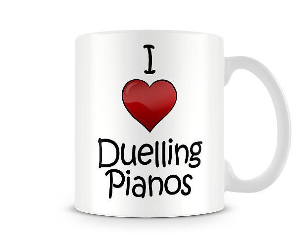 Ik hou van duellerend piano's bedrukte mok