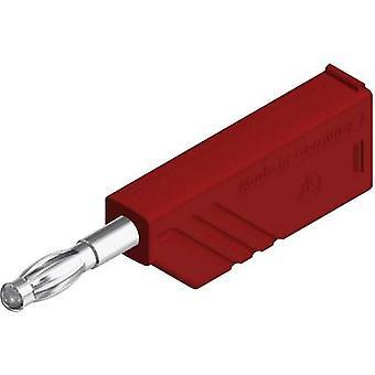 SKS Hirschmann LAS N WS Straight blade plug Plug, straight Pin diameter: 4 mm Red 1 pc(s)