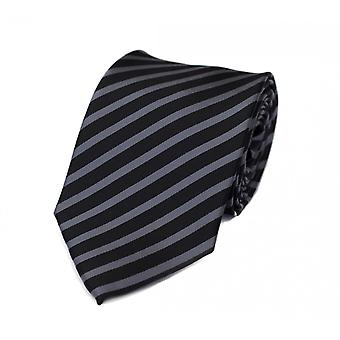 Tie tie tie tie 8cm grey black striped Fabio Farini