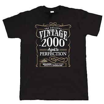 Vintage 2000 Aged To Perfection, Mens T Shirt