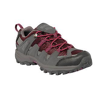 Regatta Kids Garsdale Low Junior Breathable Walking Shoes Grey