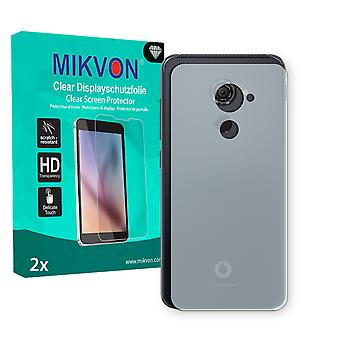 Vodafone Smart Platinum 7 reverse Screen Protector - Mikvon Clear (Retail Package with accessories) (intentionally smaller than the display due to its curved surface)