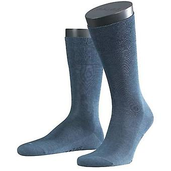 Falke Melange Tiago Midcalf Socks - Denim Blue