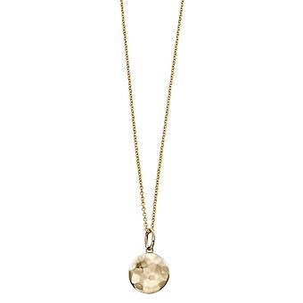Elements Gold Hammered Finish Disc Pendant - Gold