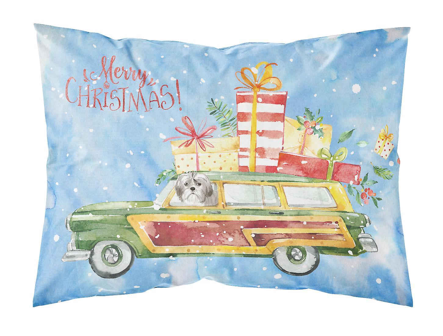 Tzu Taie Joyeux Coupe Tissu Noël Standard Shih D'oreiller Chiot NkZ80wnPXO