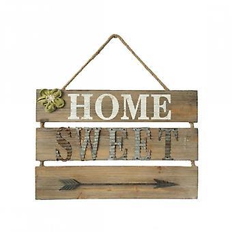 Rebecca Brown hout meubilair Wall Plaque teken rustieke Home Sweet
